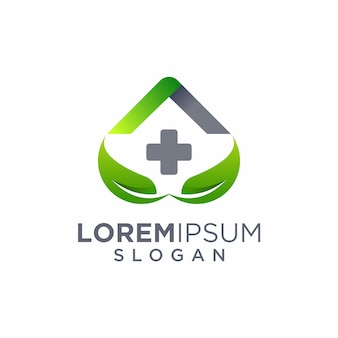 Home leaf care logo design