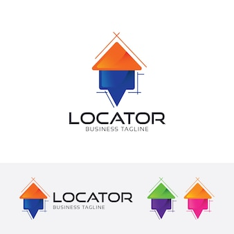 Home locate logo template