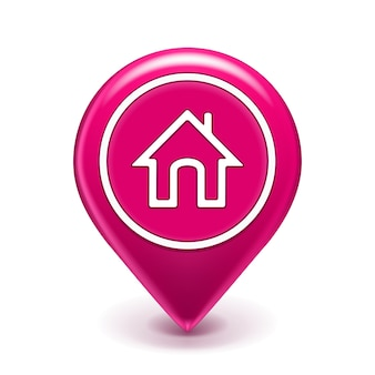 Home location icon isolated