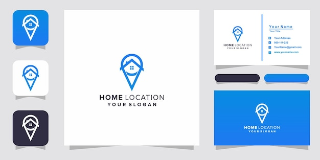 Home location logo and business card