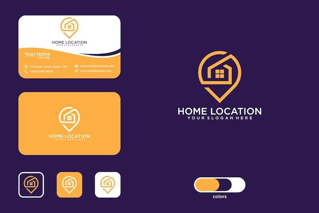 홈 위치 로고 디자인 및 명함