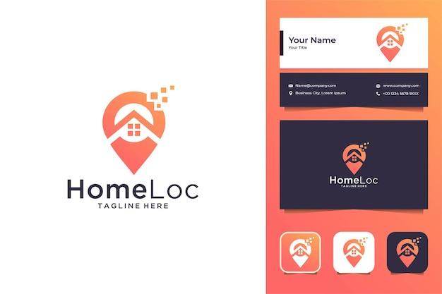 데이터 로고 디자인 및 명함으로 현대적인 홈 위치