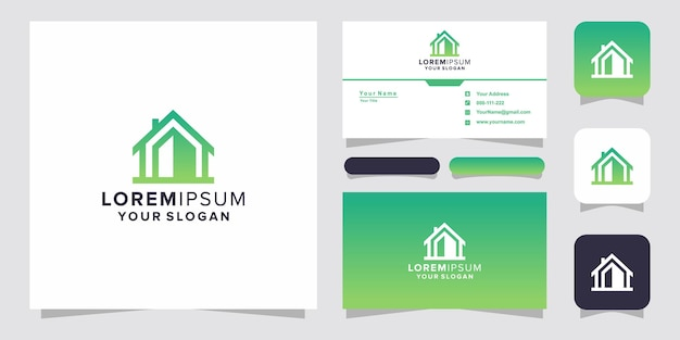 Home logo and business card