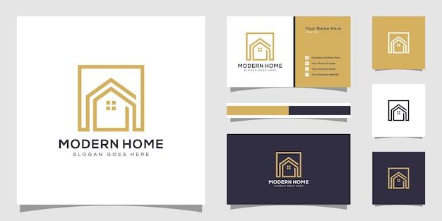홈 로고 디자인 템플릿