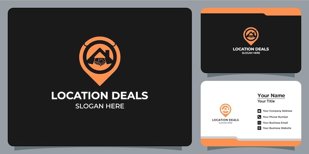 Home logo set minimalist deal icon combination with business card branding