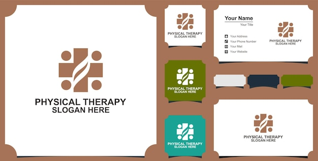 Home medical symbol and business card