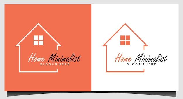 Домашний минимализм с дизайном логотипа line art