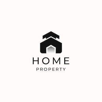 Home modern concept logo template isolated in white background. vector illustration