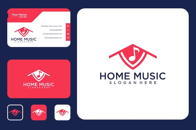 Home music logo design and business card