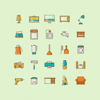 Home objects icons collection