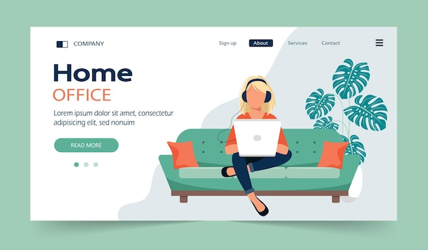 Home office and working from home landing page