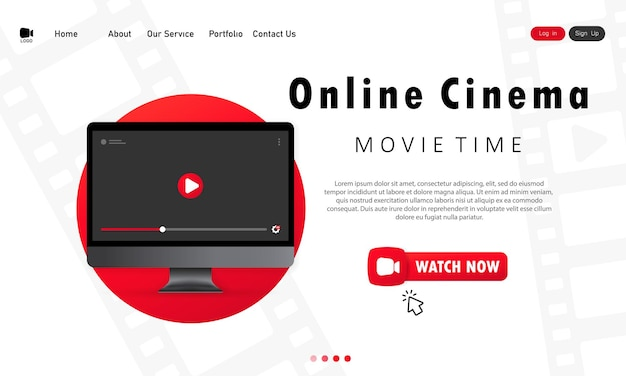Home online cinema. during pandemic watch movies at home.