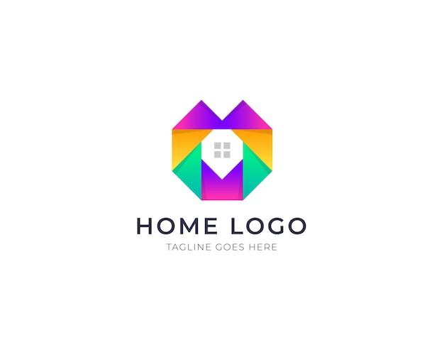 가정 또는 집 로고 및 부동산 기업 로고 디자인 벡터 템플릿