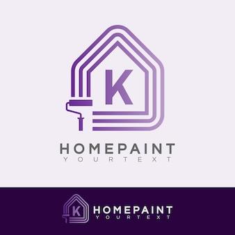 Home paint initial letter k logo design