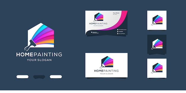 Home painting logo design and business card