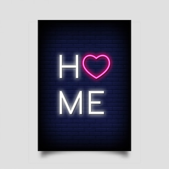 Home poster for in neon style