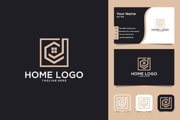 Home real estate logo design and business card