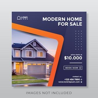 Home real estate property square banner for social media
