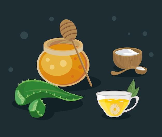 가정 요법과 꿀