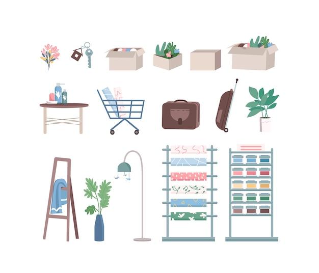 家の改修と部屋の装飾のフラットカラー