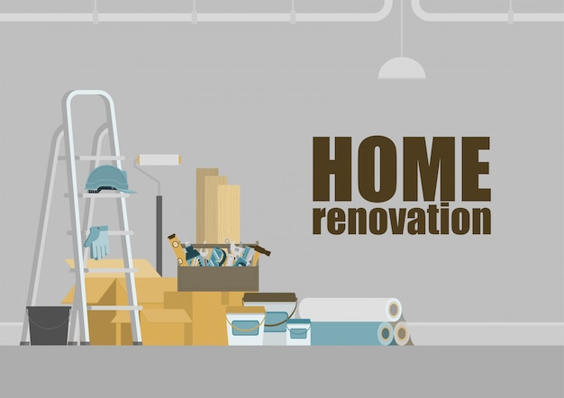 Home renovation background