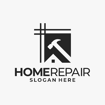 Home repair, and building concept logo design template