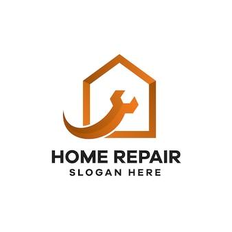 家の修理のグラデーションのロゴデザイン