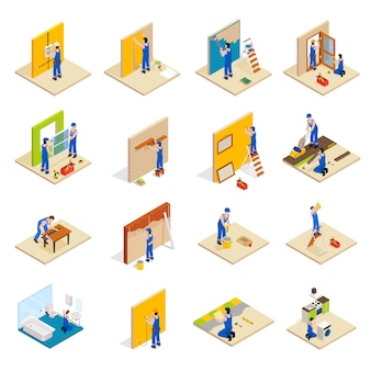 Home repair isometric set