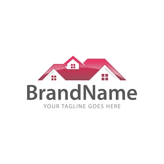 Home roof top logo