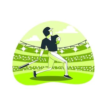 Home run концепция иллюстрации