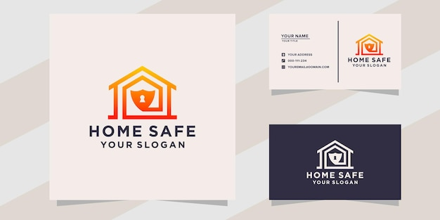 Home safe logo and business card template