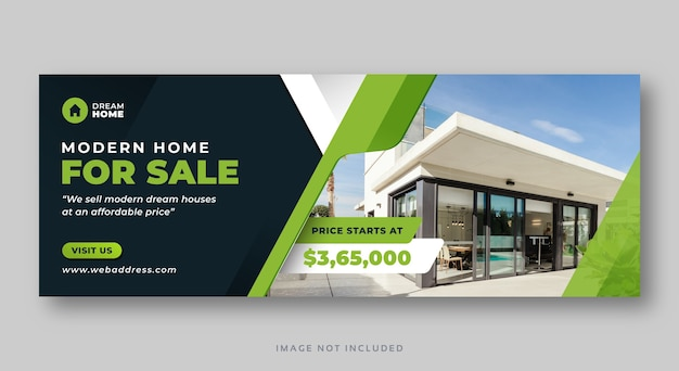 Home for sale facebook cover web banner