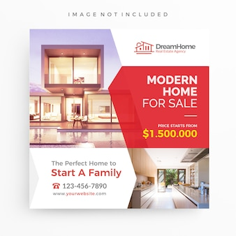 Home for sale/real estate banner template for promotion