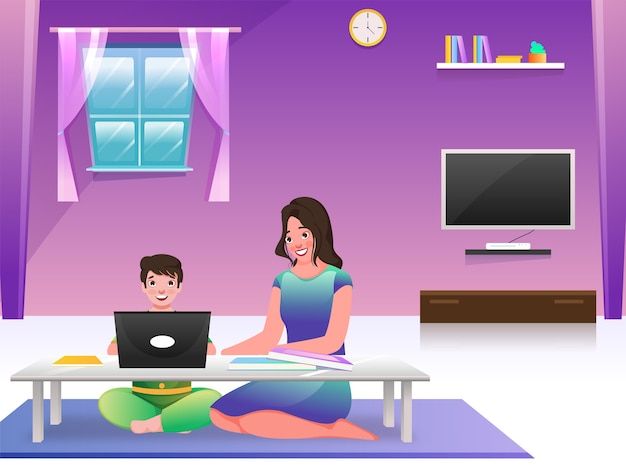 Home schooling concept
