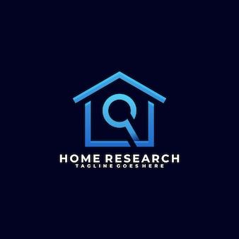 Home search line art design logo
