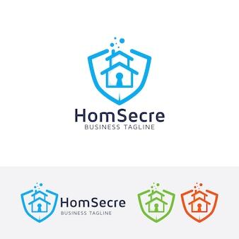 Домашний защищенный шаблон логотипа