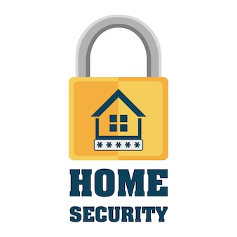 Home security padlock privacy protection