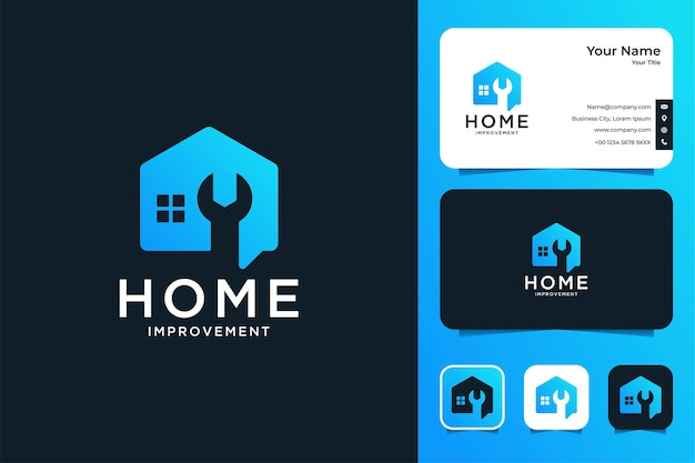 Home service improvement logo design and business card