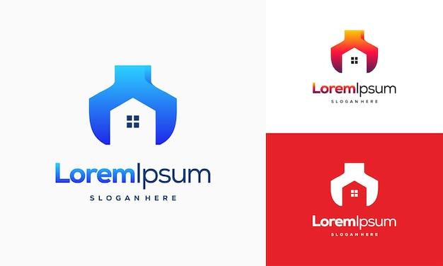 Логотип компании home services разрабатывает вектор концепции, шаблон логотипа домашнего ремонта, символ логотипа house service