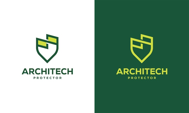 Home shield logo designs concept vector, building shield protector logo template
