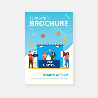 Home shopping shooting brochure template