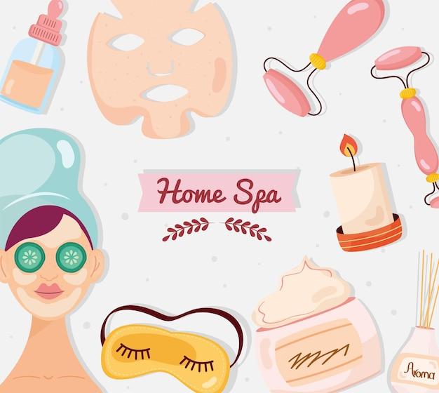 Шаблон иконы домашний спа