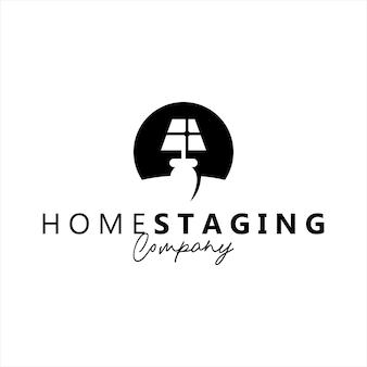 ホームステージングロゴ抽象的な概念ベクトル