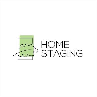 Home staging logo wooden living interior design