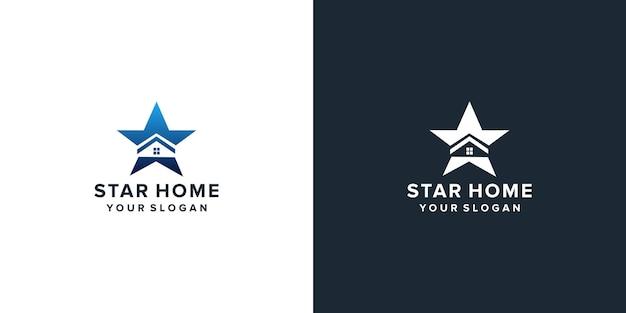 Home star logo design inspiration