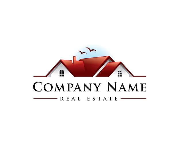 Home sunset real estate logo