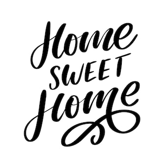 'home sweet home' hand lettering