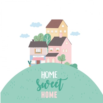 Home sweet home, houses residential urban architecture neighborhood street