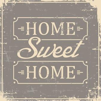 Главная sweet home signage vintage retro shabby