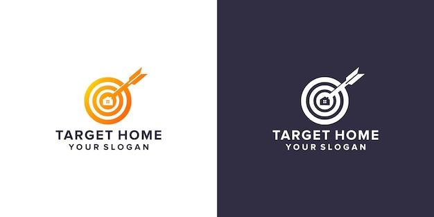 Home target logo Premium Vector